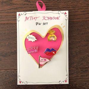 Betsey Johnson Pin Set